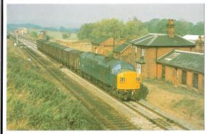 Class 40 no 40133 Passing the Site of Dorrington Station, Oct 1975 PPC, Unposted