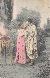 Vintage Romance, Lovers, Couple, S. Hildesheimer, Signed 1906
