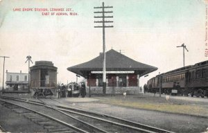 Adrian Michigan Lake Shore Train Station Vintage Postcard AA20117