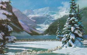 Snowy Winter Blanket At Lake Louis Banff National Park Canada