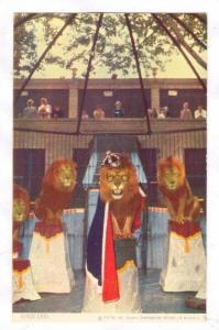 King Leo, Lion act, St Louis, Missouri, 40-50s