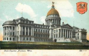 Jackson Mississippi~State Capitol~1910 Illustrated Postal Card Company~97-31