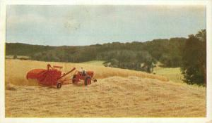 Allis Chalmers tractor farm agriculture Postcard Wisconsin 3703