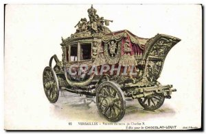 Old Postcard Palace Of Versailles Charles X Rite of Car