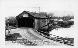 RUTLAND VERMONT~DORR BRIDGE-OVER OTTER CREEK-DESTROYED 1927-REAL PHOTO POSTCARD