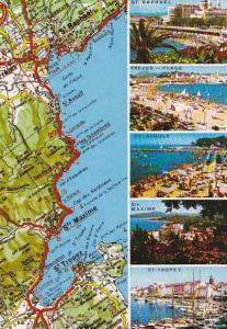 Map Of La Cote D'Azur - Varoise France Multi View