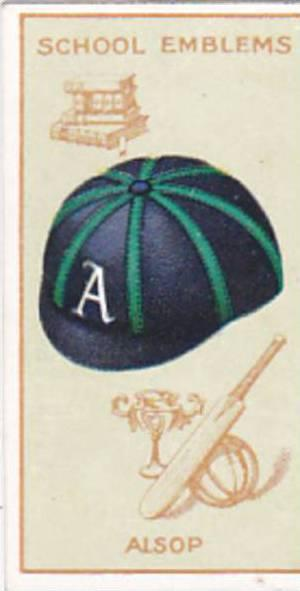 Carreras Cigarette Card School Emblems No 39 Alsop