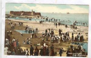Lighthouse, Beach & Battery, New Brighton, England, UK, 1910-1920s