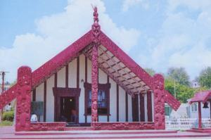 Tamatekapua Meeting House Ohinemutu Rotorua NZ New Zealand Postcard D22
