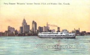 Ferry Steamer Britannia Steamer Ship Ships Postcard Postcards  Ferry Steamer ...