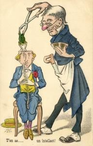 Comic, Surgeon removes Frog from Head and calls it Intellect (1904)