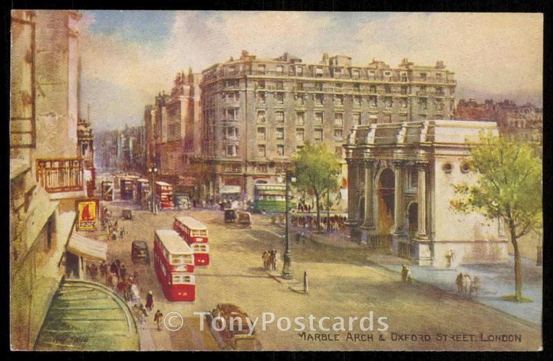 MARBLE ARCH & OXFORD STREET, LONDON