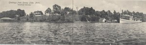 SPRING LAKE , Michigan, 1910 ; Woodland Terrace ; Bi-Fold Postcard