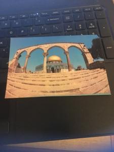 Vintage Postcard: Jerusalem, Dome of the Rock , outside