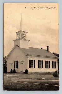 Melvin Village NH-New Hampshire Community Church, Vintage c1963 Postcard