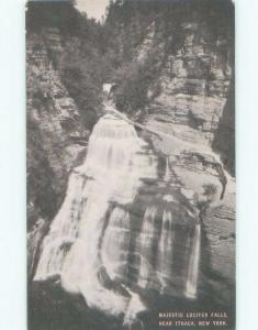 Unused 1940's WATERFALL SCENE Ithaca New York NY E4461