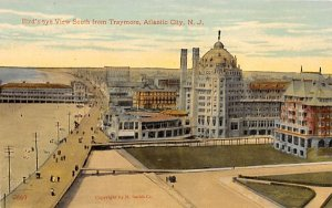 nj-atlantic_city Birds-eye View South from Traymore Unused