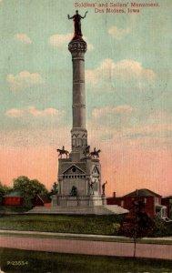 Iowa Des Moines Soldiers and Sailors Monument 1917