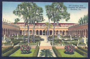 Ringling Art Museum looking East Sarasota FL unused c1949