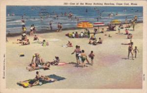 Massachusetts Cape Cod Typical Bathing Beach 1958 Curteich