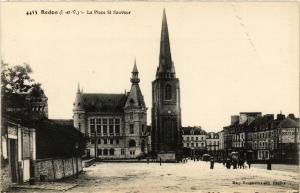 CPA REDON (I.-et-V.) - La Place St-Sauveur (357084)