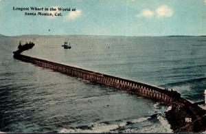 California Santa Monica Longest Wharf In The World 1913