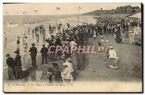 Old Postcard Cabourg The Beach has the & # 39Heure Bath
