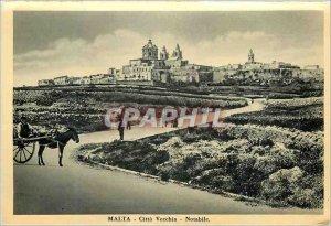 Postcard Modern Malta Citta Vecchia Notabile Donkey Donkey