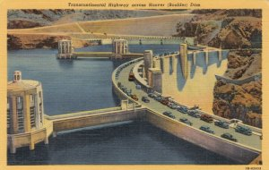 NEVADA, 30-40s; Transcontinental Highway across HOOVER (Boulder) Dam