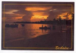 Sunset in Oistins Bay, Barbados, PU-1990
