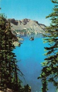 Postcard Phantom Ship Crater Lake Oregon