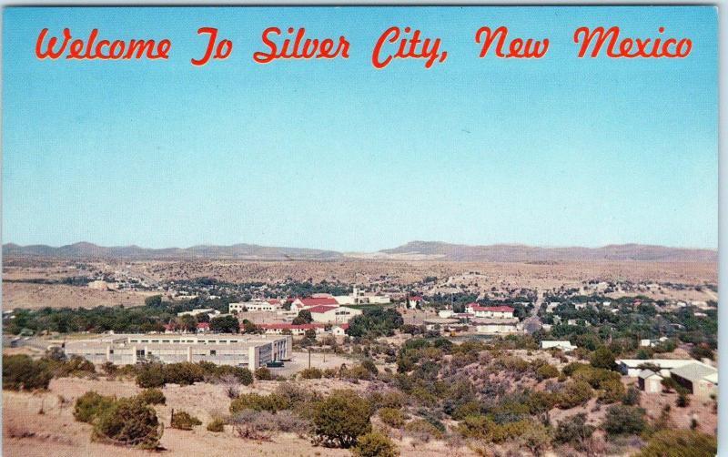 Silver City Nm New Mexico Birdseye View C1960s Grant