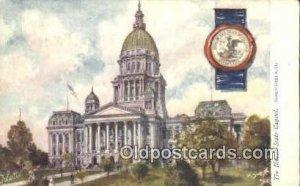 Springfield, Illinois, IL State Capital USA 1908 close to perfect postal used...