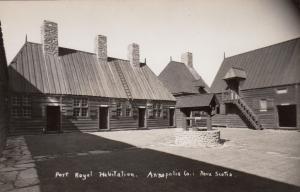RP: ANNAPOLIS CO., Nova Scotia, Canada, 30-40s; Port Royal Habitation, Courtyard
