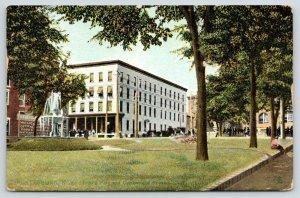 Plattsburgh NY~Chas J Dale Jewelry Store~Trinity Park~Cumberland House~1908 TUCK