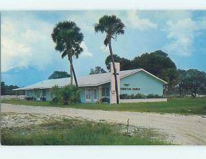 Unused Pre-1980 CHURCH SCENE Port Charlotte Florida FL hs6505