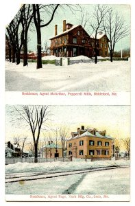 ME - Biddeford & Saco. Mill Agents' Residences   (corner missing)