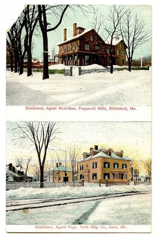 ME - Biddeford & Saco. Mill Agents' Residences   (corner missing)