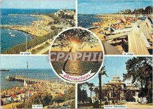 Modern Postcard Arcachon Cote d'Argent beach pier The Moorish Casino