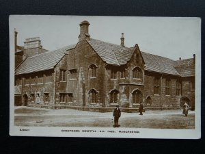 Manchester CHETHAMS HOSPITAL A.D. 1422 - Old RP Postcard by Kingsway S6641