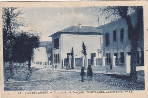 SIDI-BEL-ABBES.-College de Garcons , Algeria , PU-1918