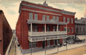 Jersey Shore Pennsylvania Hotel Pickering Street View Antique Postcard K7876506