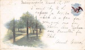 Hot Springs Arkansas~Park Hotel Grounds~Path in Trees~1898 Private Mailing Card