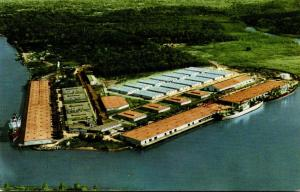Louisiana Lake Charles Aerial View Of The Port