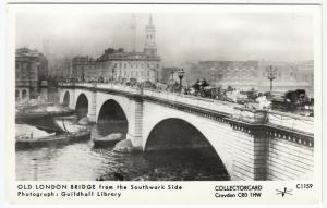 London; Old London Bridge From The Southwark Side RP PPC By Pamlin, C1159