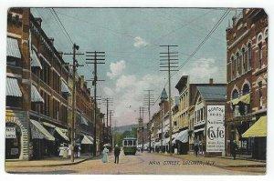 Oneonta, New York, Vintage Postcard View of Main Street