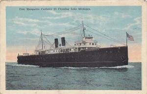 Pere Marquette Carferry 21 Crossing Lake Michigan, Michigan, 00-10s