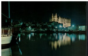 Postcard - Palma - St. Peter's Dock and Cathedral - Mallorca Espana Spain