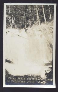 RPPC KETCHIKAN CREEK ALASKA FIRST FALLS BY POWER HOUSE REAL PHOTO POSTCARD