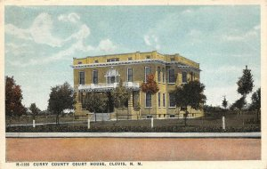 CURRY COUNTY COURT HOUSE Clovis, NM 1919 Fred Harvey Vintage Postcard